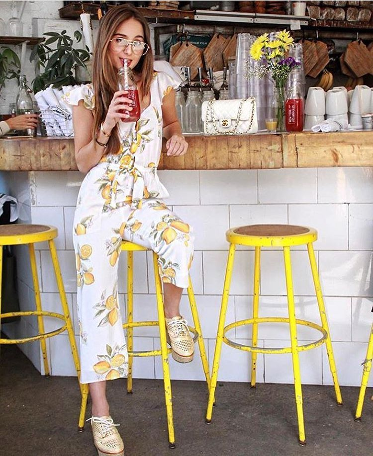 718199366e91 The Limonada Onesie by For Love and Lemons   Style   Bar stools ...