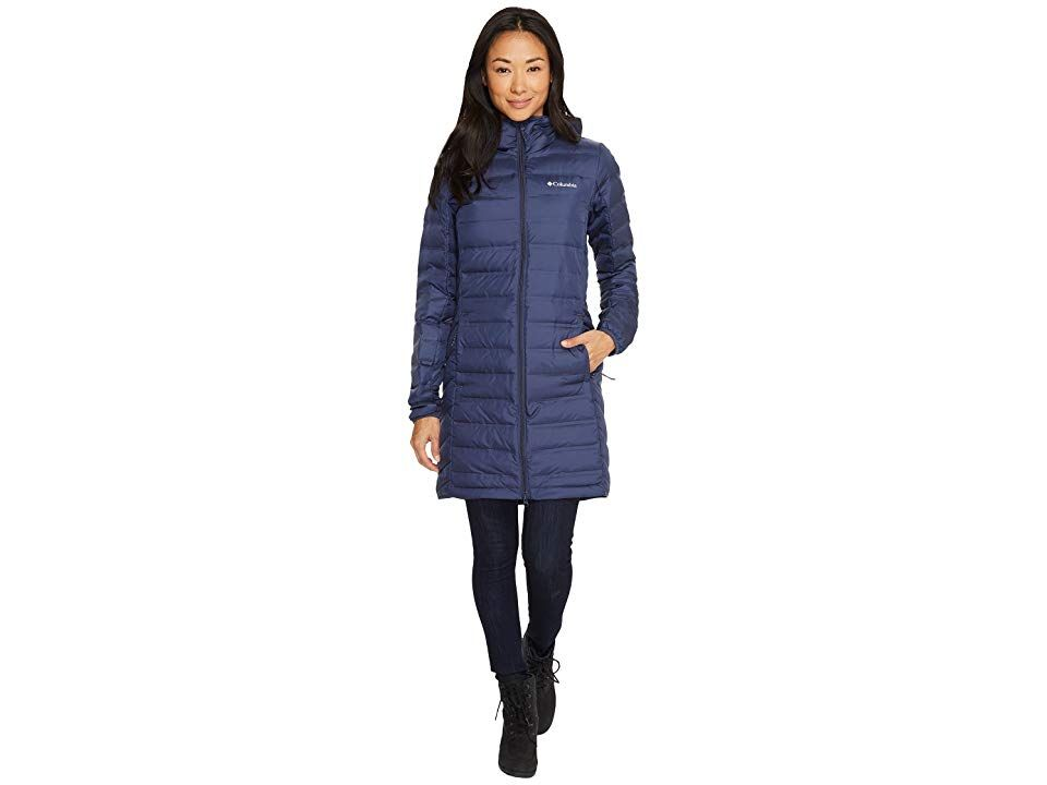 Columbia Lake 22 Long Hooded Jacket (Nocturnal) Women's ...