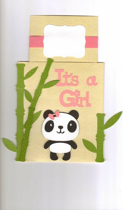 Its a girl baby shower invitation panda and bamboo custom made baby shower invitation panda and bamboo custom made filmwisefo