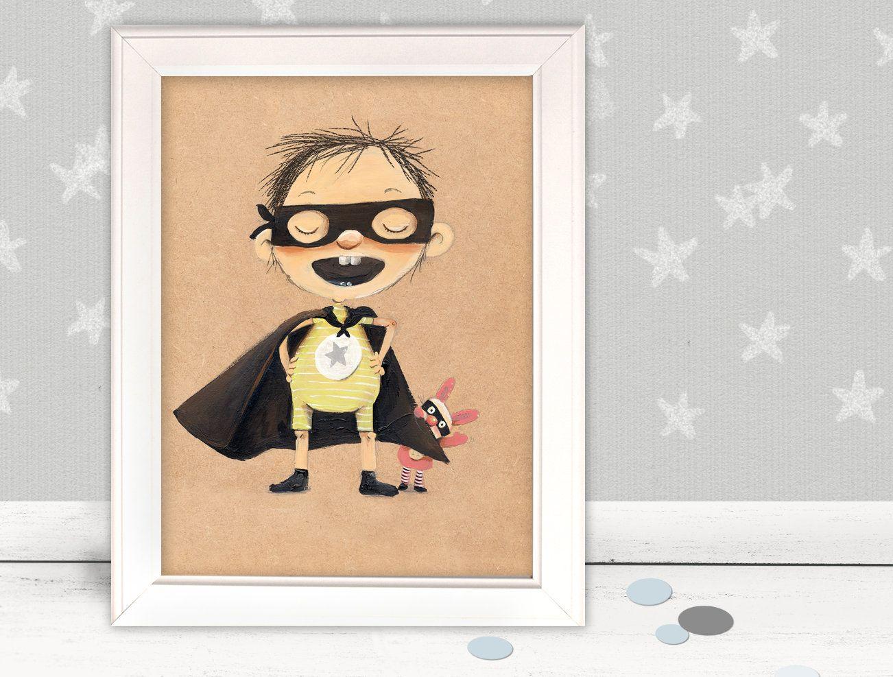 "Kinderbild ""Superheld"", Kinderbilder, Kinderzimmer"