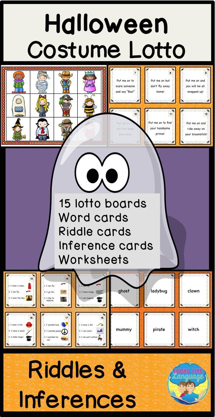 Mixed Groups Halloween Language Bingo Inference