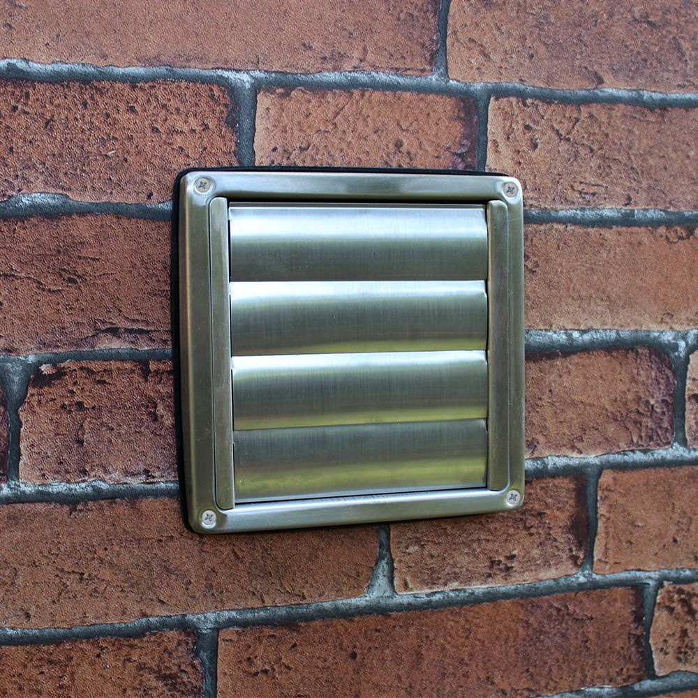 Stainless Steel Wall Outlet Gravity Flaps 150mm