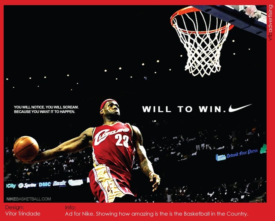 This Nike Ad is of Lebron James back