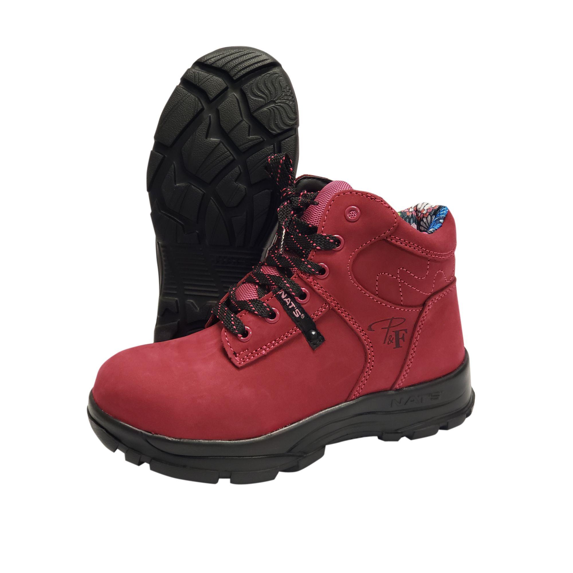 6 Ultra Light Work Boot With Steel Toe Raspberry Light Work Boots Boots Work Boots