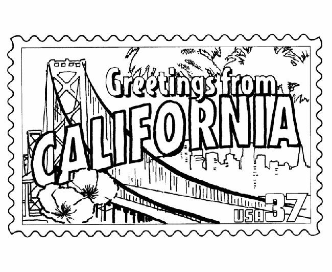 California Coloring Pages Are A Fun Way To Teach And For