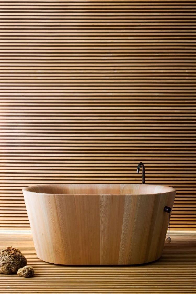 Badmobel Aus Holz 50 Moderne Sets Furs Bad Als Inspirationen Wandverkleidung Holz Moderne Wandverkleidung Badewanne Holz