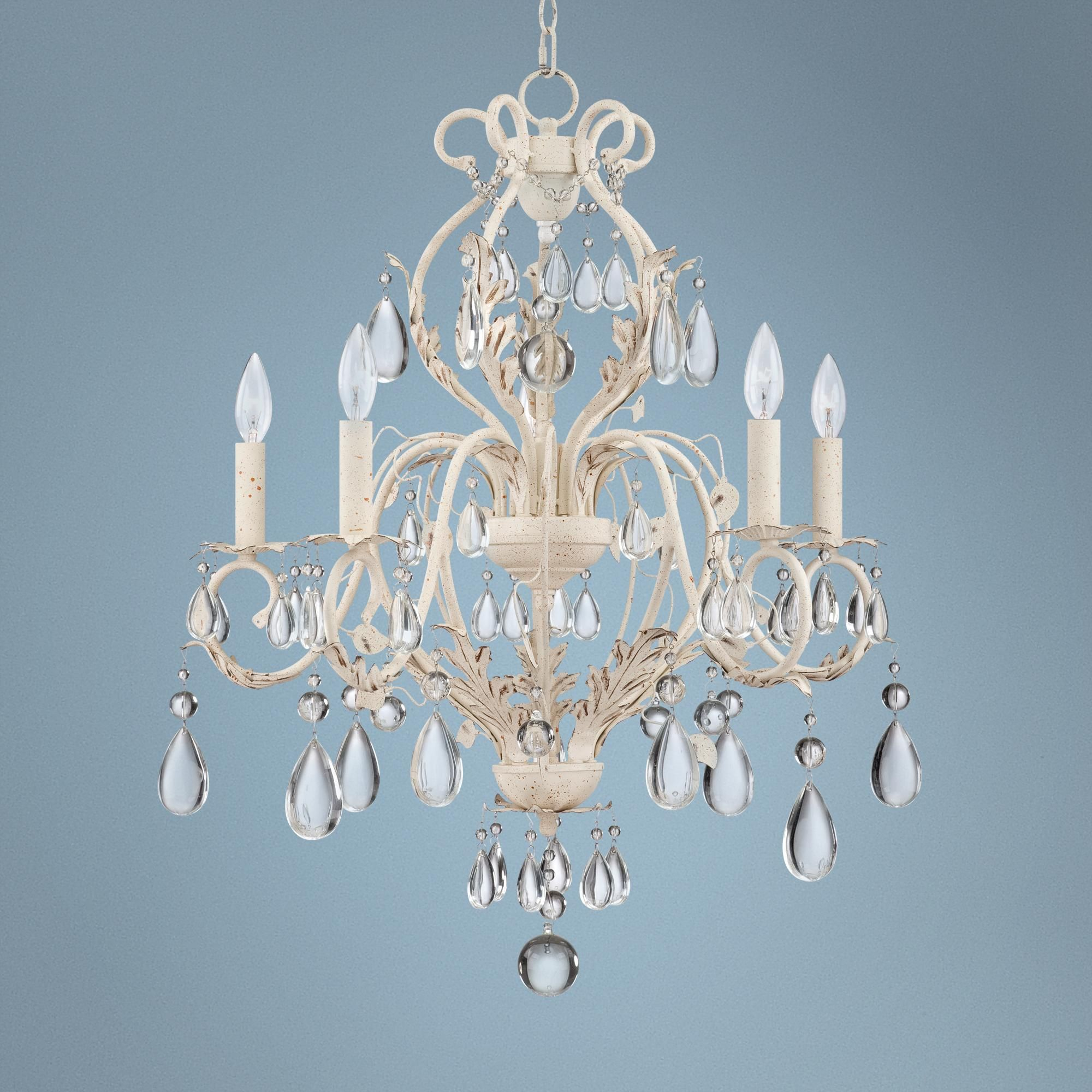 """Kathy Ireland Amelia 24 3 4"""" Wide White Crystal Chandelier this"""