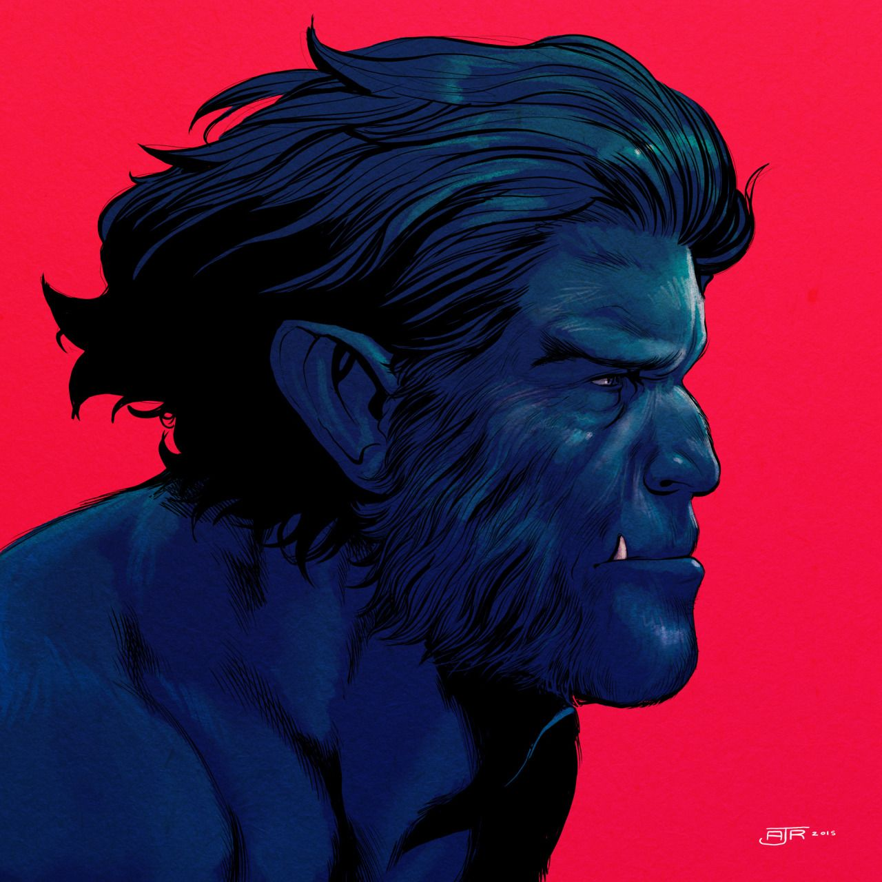Astonishing X X Men Beast Marvel Male Portrait
