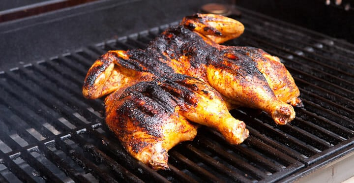 Grilled Spatchcock Chicken My Absolute Favorite Way To Grill A Whole Chicken Is Under An Hour Spatchcock Chicken Grilled Whole Chicken Spatchcock Chicken Bbq