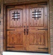 pictures of solid wood double entry doors | Solid-Wood-Exterior ...