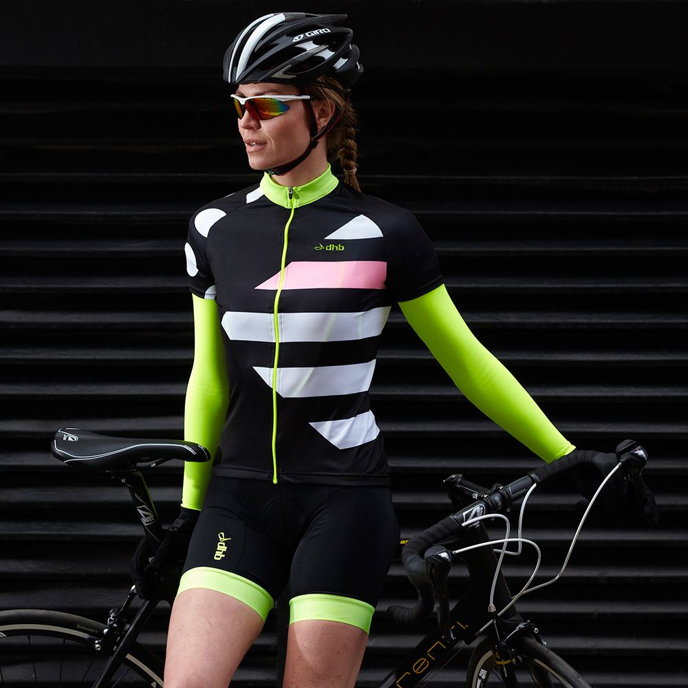 Wiggle | dhb Women's Blok Dasher Short Sleeve Jersey | Short Sleeve Cycling Jerseys £37.99