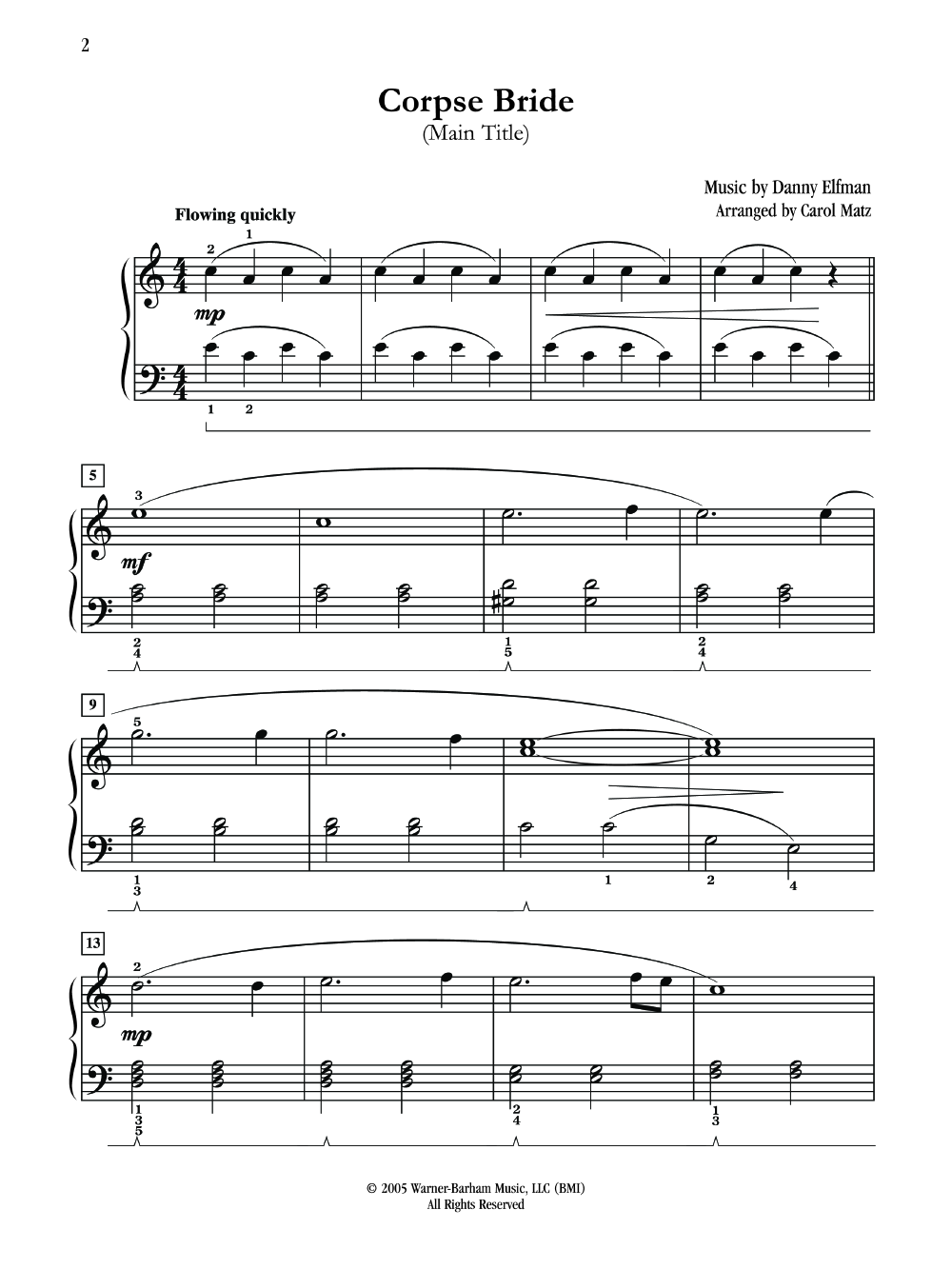 corpse bride piano duet sheet music pdf
