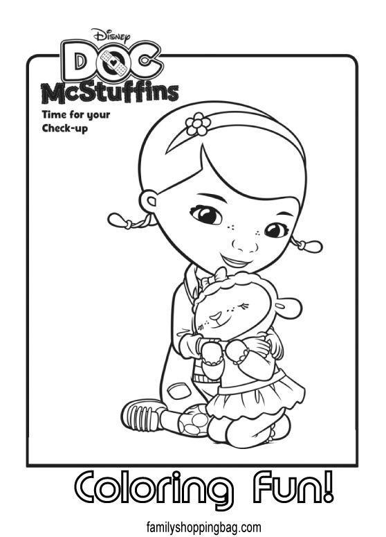 Dottie, Doc McStuffins with the medical instruments coloring page ... | 775x558