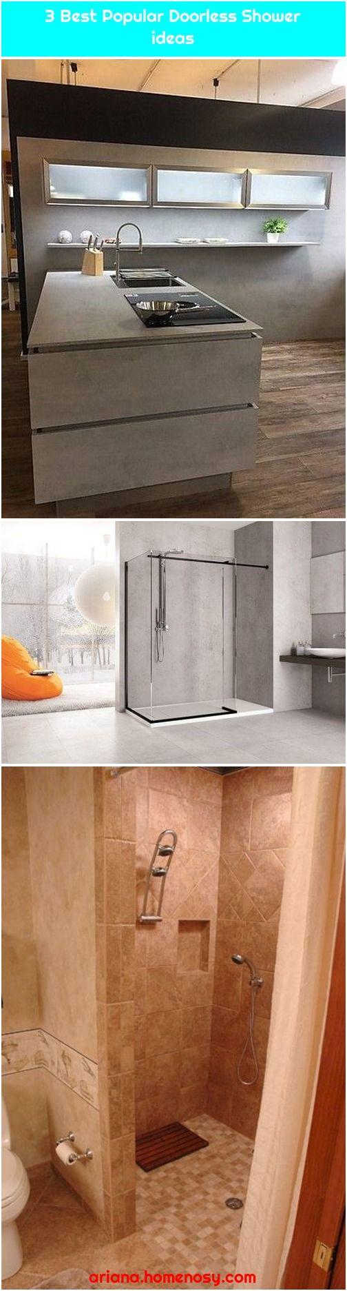 3 Best Popular Doorless Shower Ideas Doorless Shower Shower Elegant Kitchens