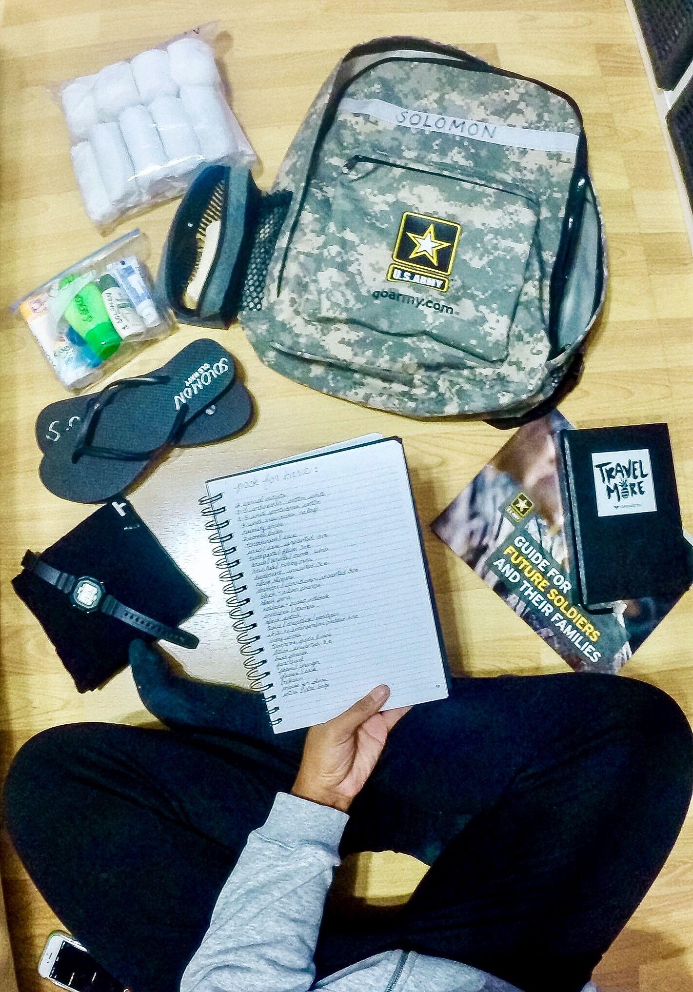 army female basic training packing list