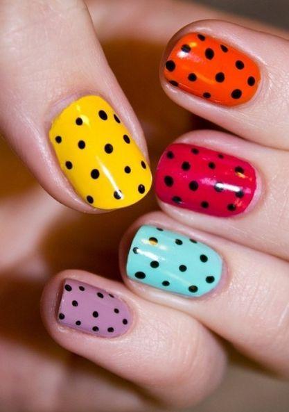 Nail Arts Polka Dots Design Nails Ideas Nail Designs