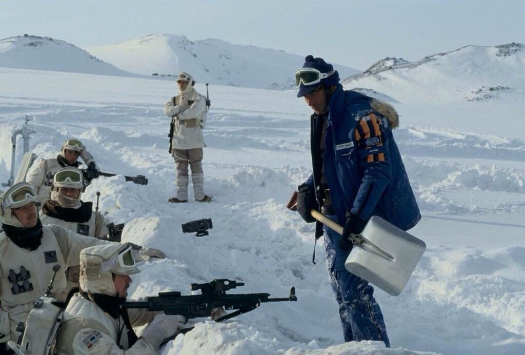 Filming On Hoth Star Wars Pictures Star Wars Figures Star Wars Empire