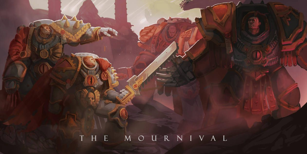 The Mournival By Wrigglybear Sons Of Horus Warhammer Art Space Marine Art