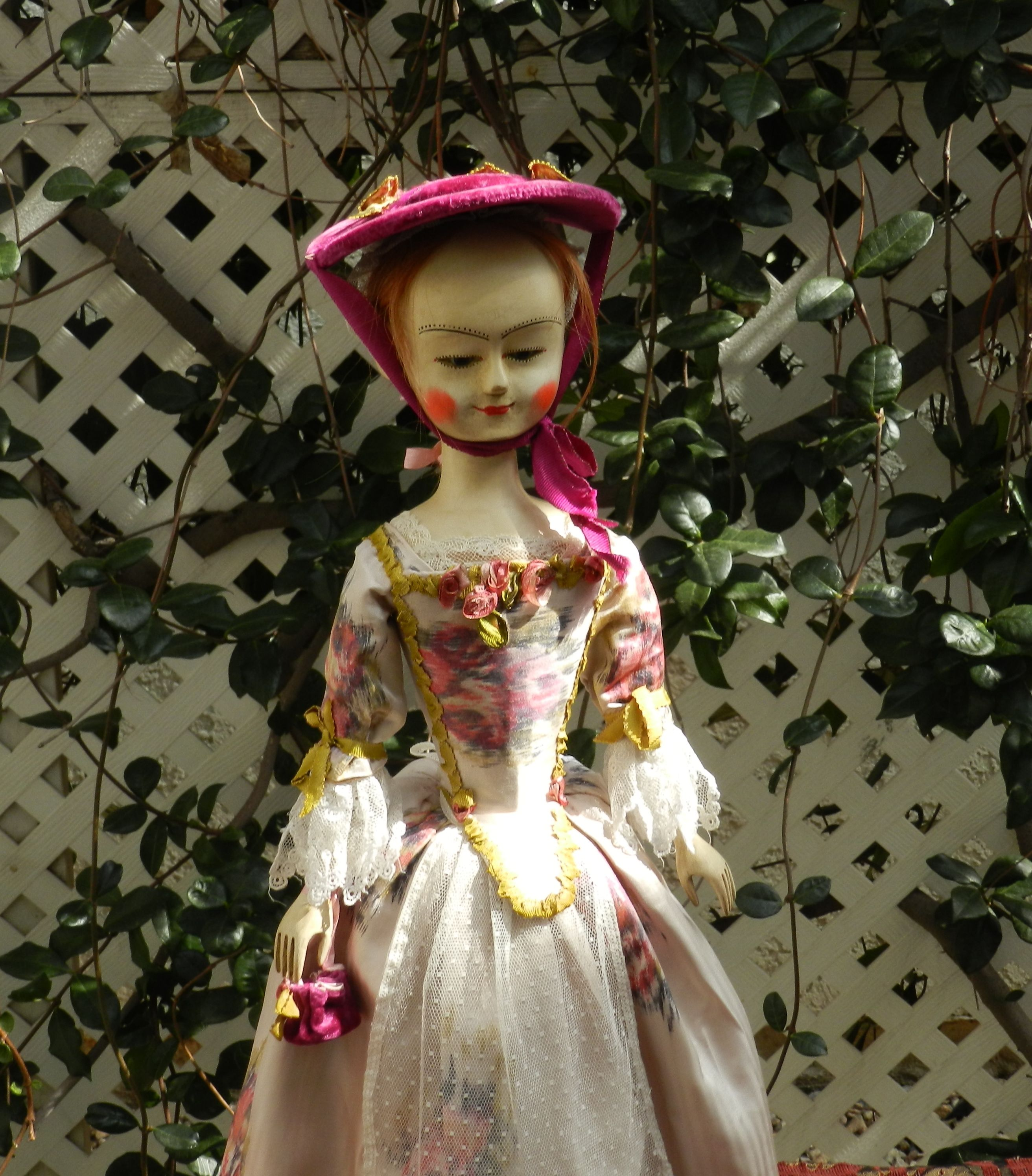 Wooden doll Queen Anne style by Alena Sinel