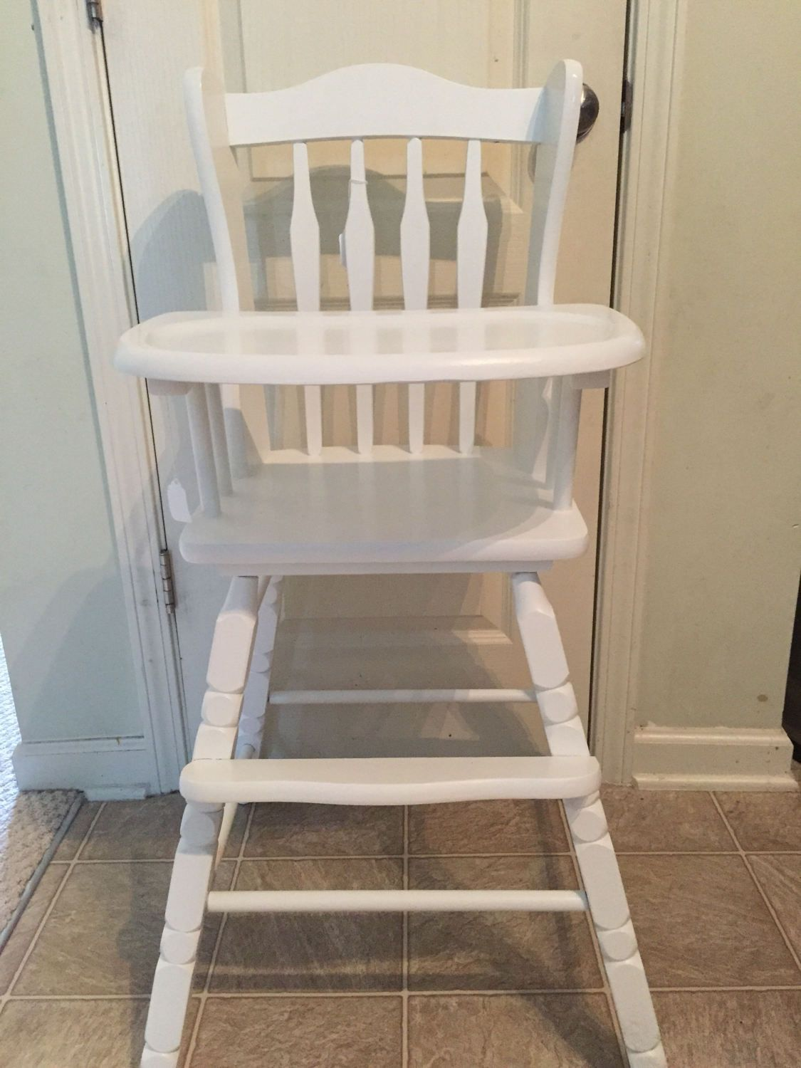 Vintage Wooden High Chair Jenny Lind Antique High Chair Vintage High Chair & Vintage Wooden High Chair Jenny Lind Antique High Chair Vintage ...