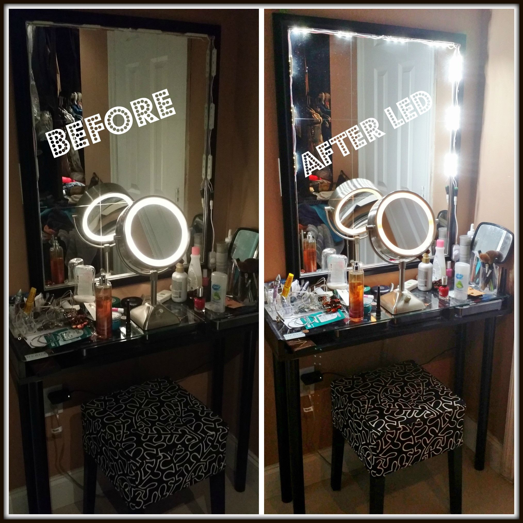 Lighted Makeup Vanity LED Kit with Dimmer Makeup vanity