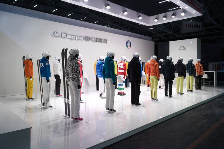 Expo Stands 2015 : Kappa ski exhibition stand at ispo munich
