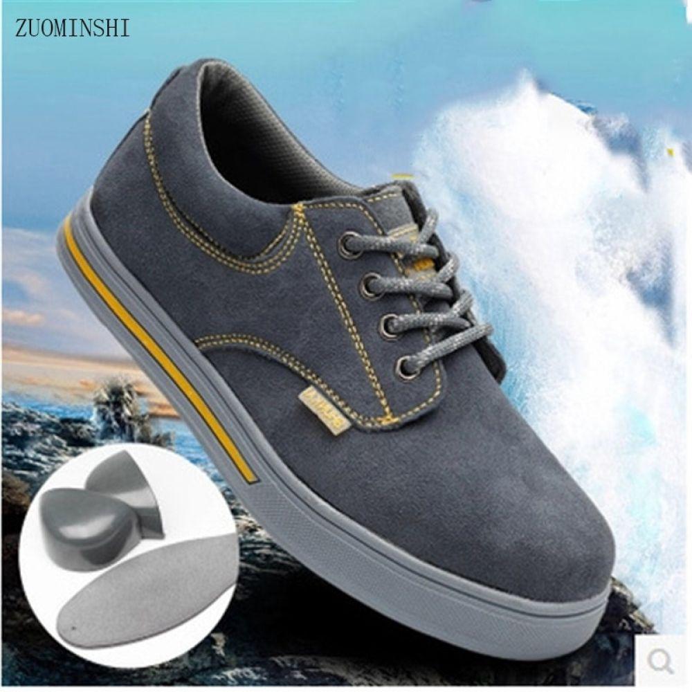 Work Safety Shoes men Steel Toe Warm Breathable Men's