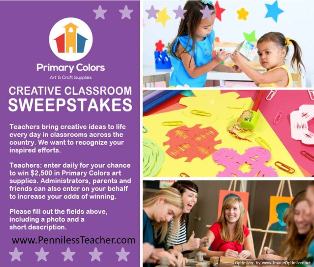 School Outfitters Primary Colors Creative Classroom Sweepstakes (X 2/26/14)
