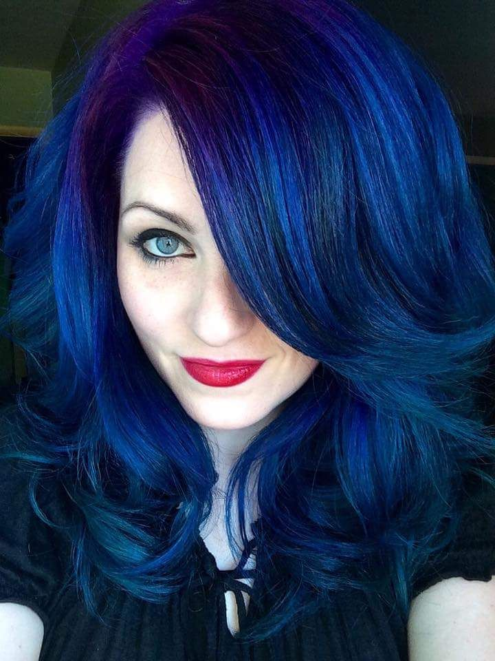 Blue Hair Ursula Goff Colored Hair Hair Purple Hair