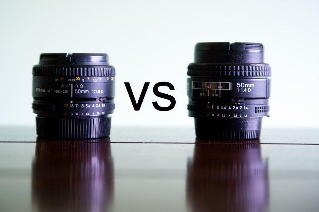 50mm 1.8 vs 1.4