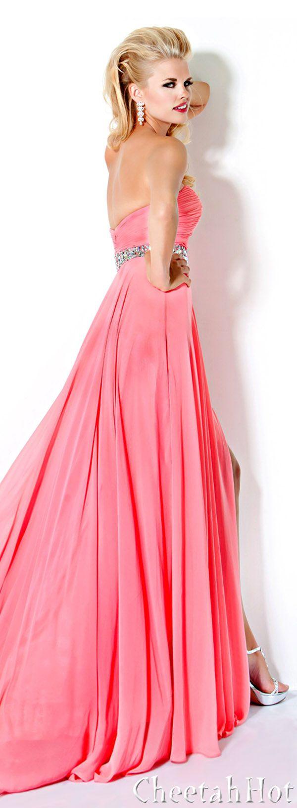 JOVANI - Lovely Coral Gown | TRAJES DE GALA: | Pinterest | Trajes de ...