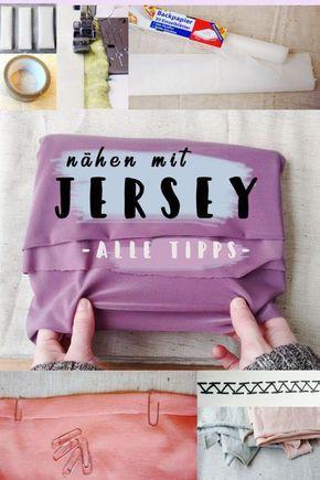 Jersey nähen Tipps: Was hilft gegen einrollende Nähte, welche Stichart und Nähmaschinennadel verwenden für Jersey, welche Arten elastischer Stoffe gibt es? #crochetponchokids