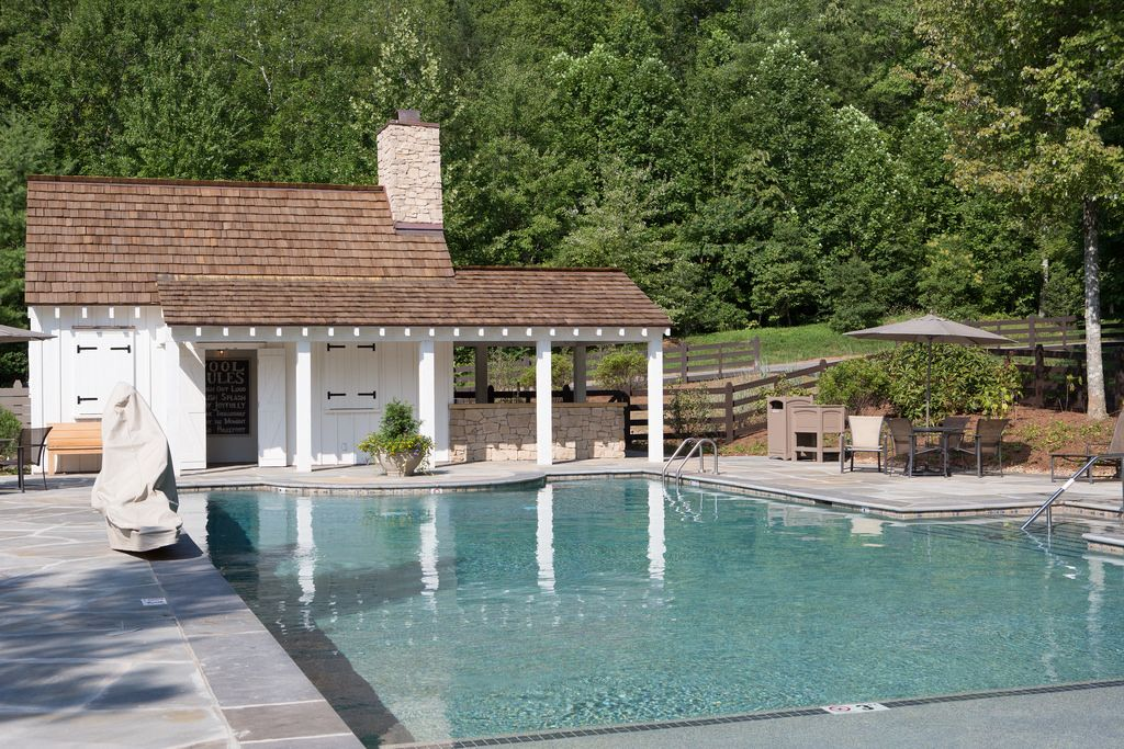 Take A Break From Your Activities And Relax By The Family Pool Located Next To Camp Blackberry Pool Houses Blackberry Farms Pool House