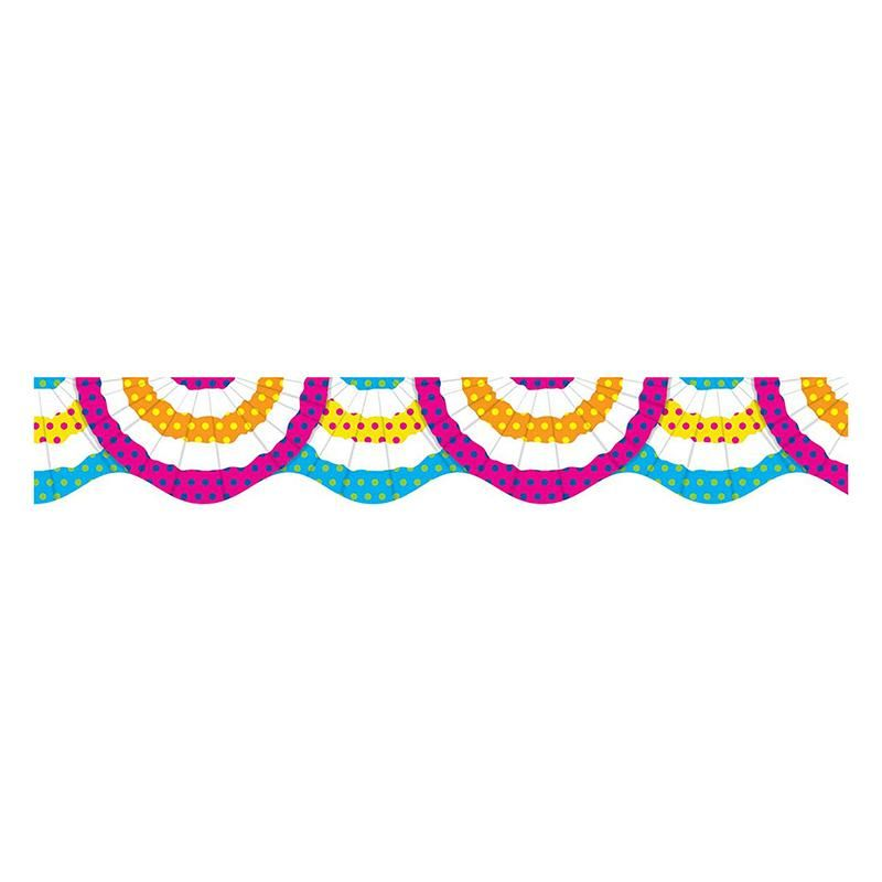 Festive Bunting Scalloped Bulletin Board Trimmer | NTS581950