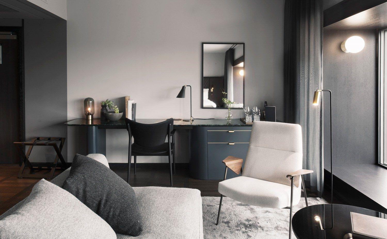 at six hotel stockholm by universal design studio ds pinterest design hotel bedroom design. Black Bedroom Furniture Sets. Home Design Ideas