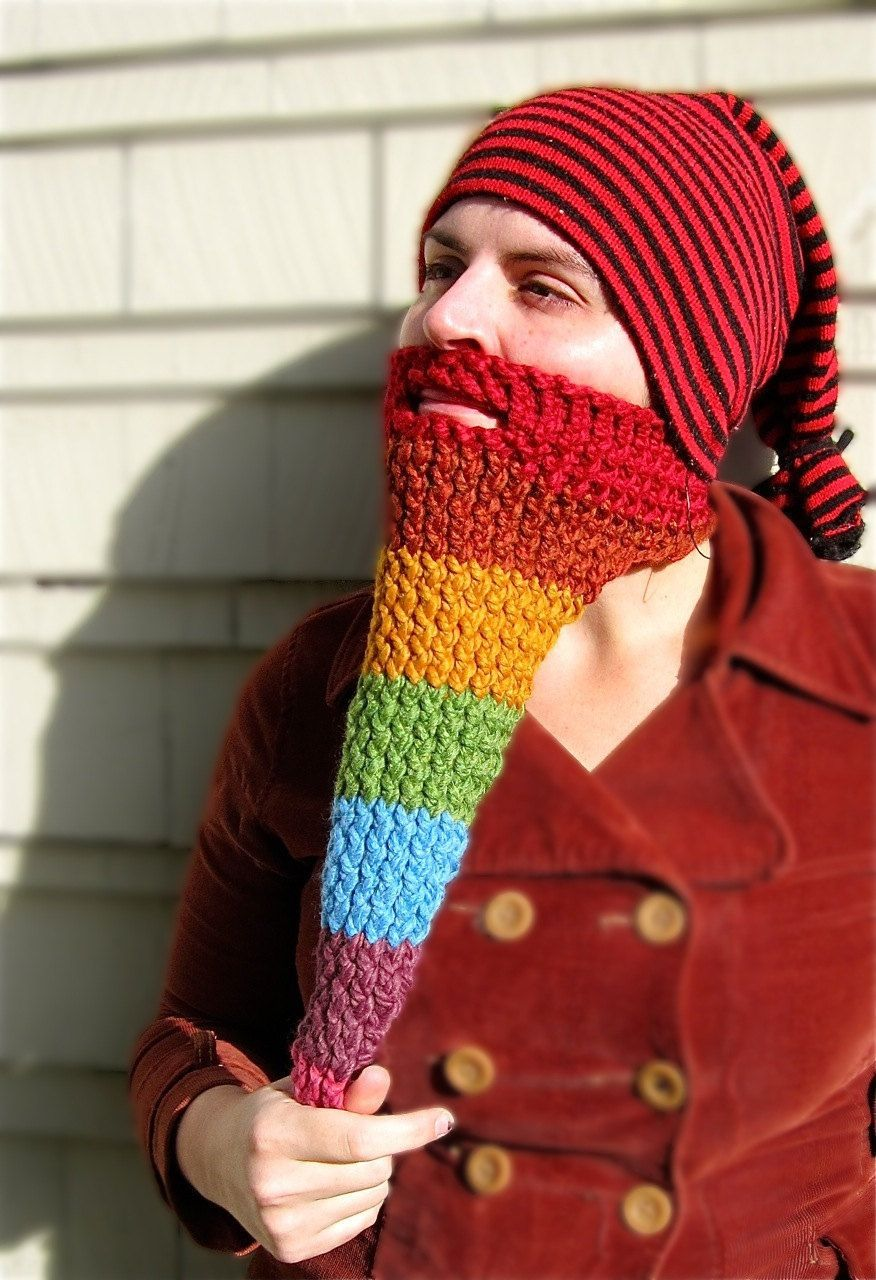 rainbow beard - face neck warmer 36c0d19564fa