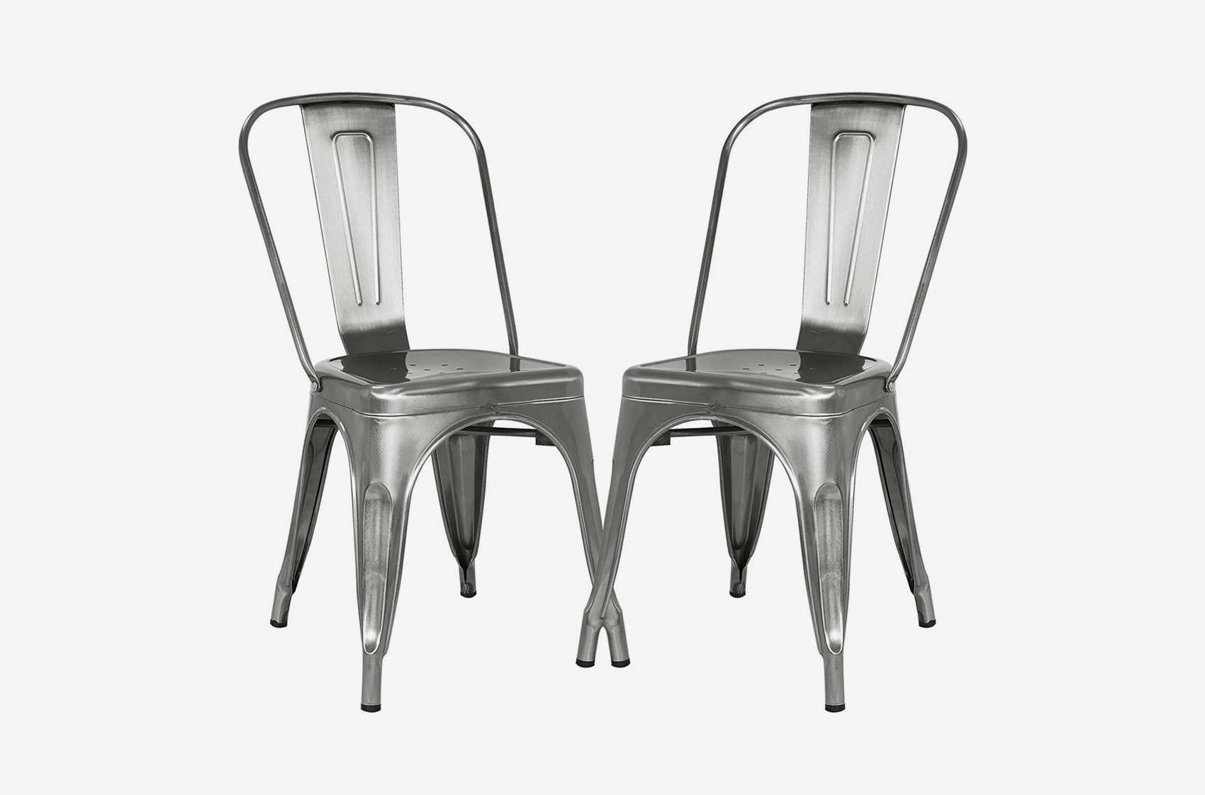 Sensational Poly And Bark Trattoria Side Chair In Polished Gunmetal Set Bralicious Painted Fabric Chair Ideas Braliciousco