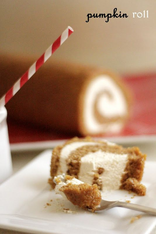 Pumpkin Roll with Cream Cheese Filling  One of my favorite desserts!!!