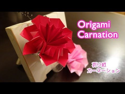 Origami Carnation Flower Mothers Day