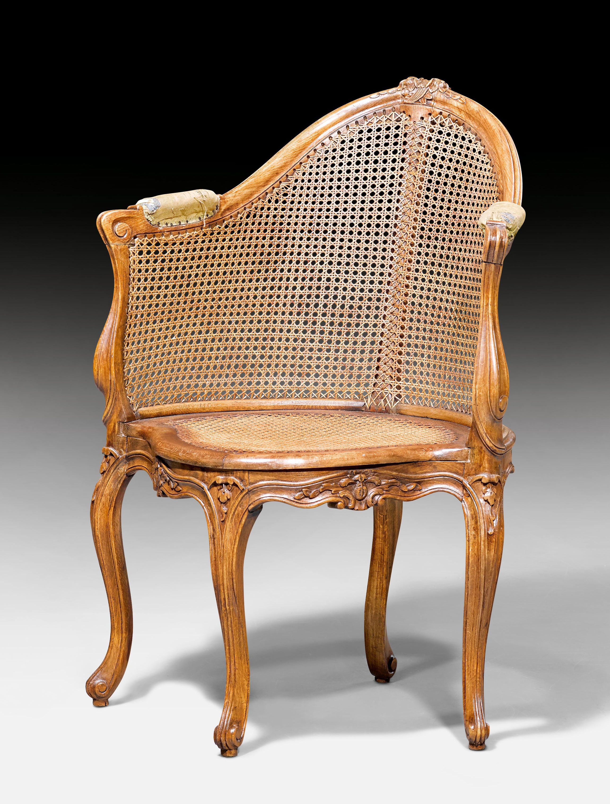 C1750 Fauteuil De Bureau Desk Chair Louis Xv France Ca 1750 Beech Molded And Finely Carved With Flowers Leaves And Deco Chair Chaise Chair Wicker Chair