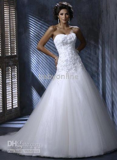 Nora A-line soft sweetheart neckline wedding dress wedding gown | DHgate