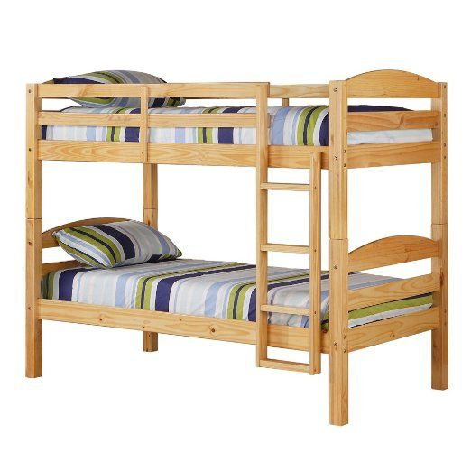 Amazon Com We Furniture Twin Over Twin Solid Wood Bunk Bed White 290 With Images Solid Wood Bunk Beds Twin Bunk Beds Wood Bunk Beds