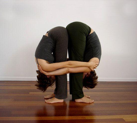 Resultado De Imagen Posturas Yoga En Pareja