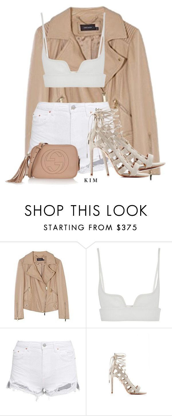 """""""1"""" by kimberlythestylist ❤ liked on Polyvore featuring Karen Millen, Vera Wang, Aquazzura and Gucci"""