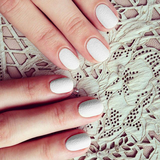 The Cool Minimalism Of A Winter White Manicure 5 Nail Pros Share