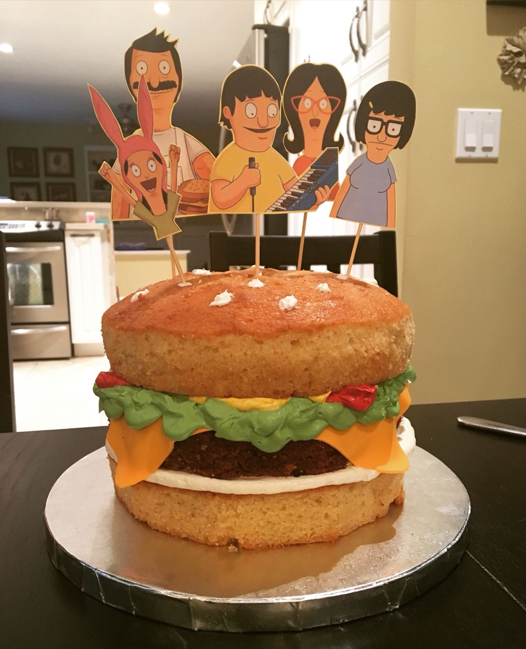 Bobs Burgers Cake I Want This For My Birthday This Year Cooking