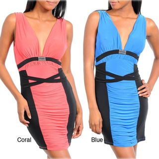 Stanzino Women's Banded Ruched Panel Dress   Overstock.com