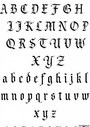 Картинки по запросу английский красивый шрифт   Шрифты для ...