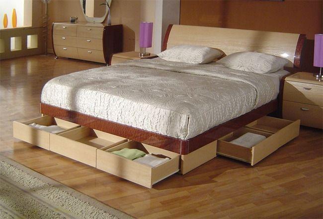 Ahorra espacio con cajones debajo de la cama ideas para - Camas cajones debajo ...