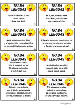 Spanish short tongue twisters saber hablar ortografia for Conjugaison espagnol hablar